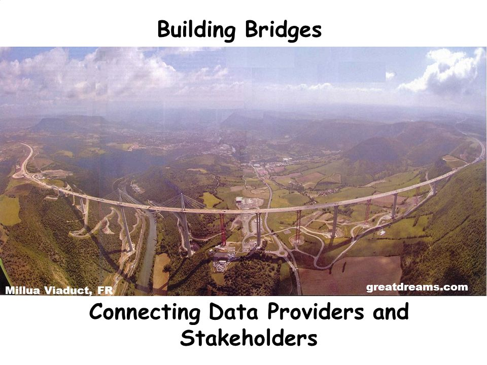 Connecting Data Providers and Stakeholders Building Bridges Millua Viaduct, FR greatdreams.com