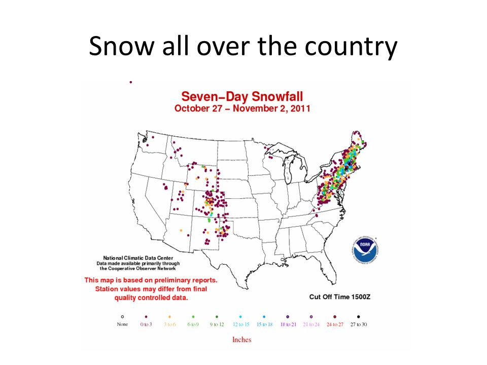 Snow all over the country
