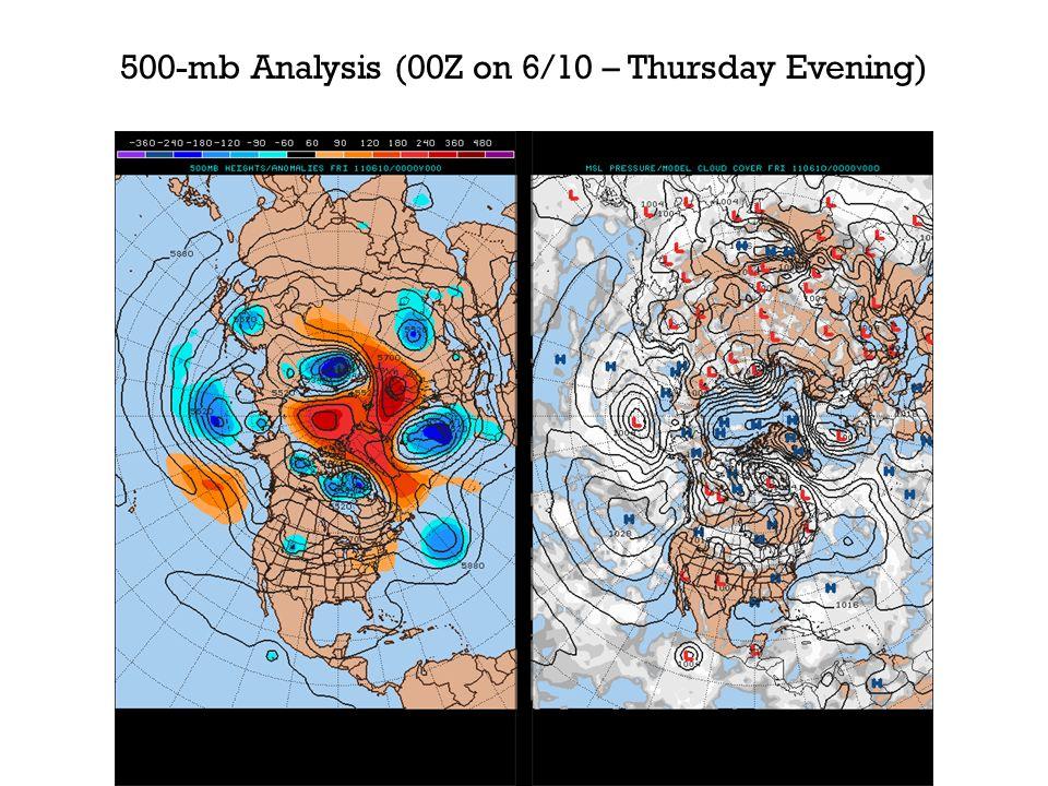 U.S. Surface Analysis (00Z on 6/14 – Monday Evening)