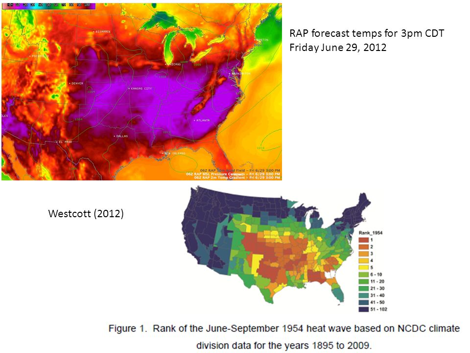 RAP forecast temps for 3pm CDT Friday June 29, 2012 Westcott (2012)