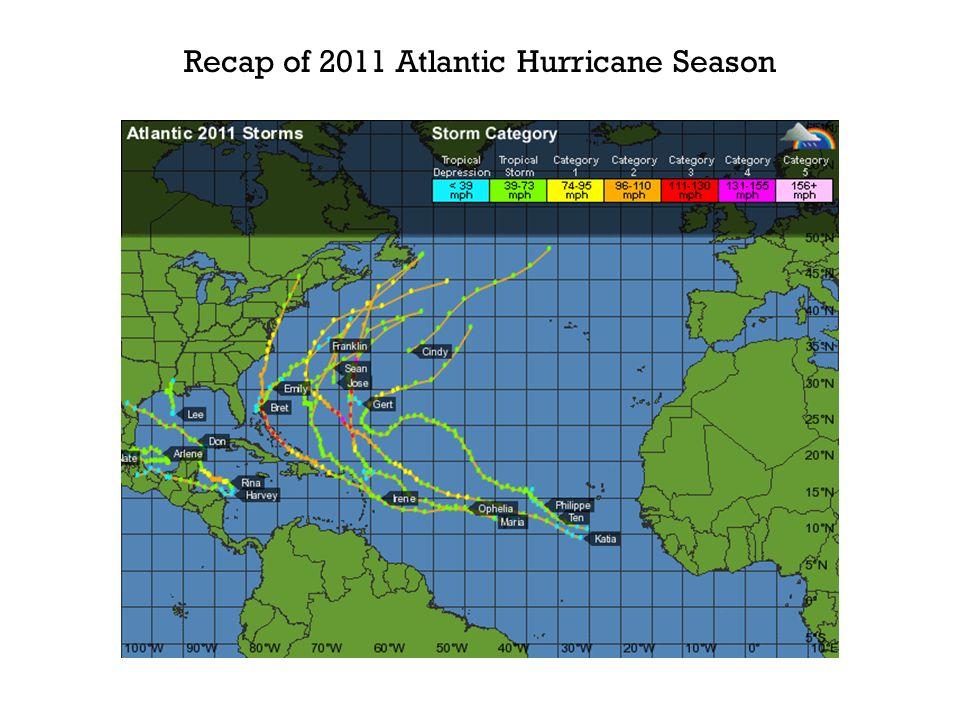 Recap of 2011 Atlantic Hurricane Season
