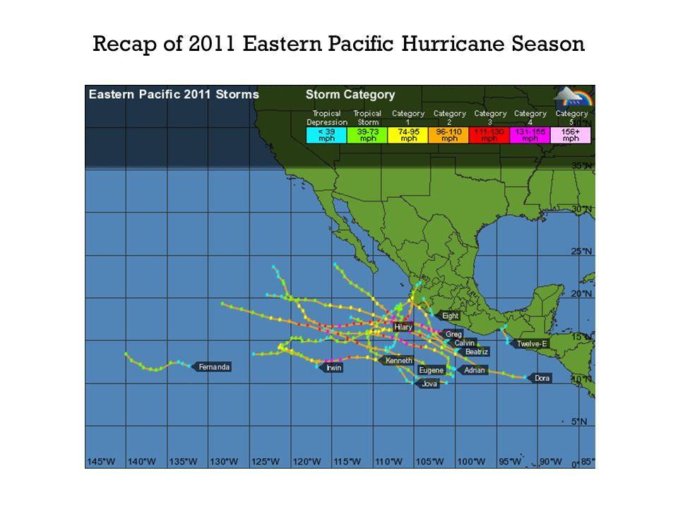 Recap of 2011 Eastern Pacific Hurricane Season