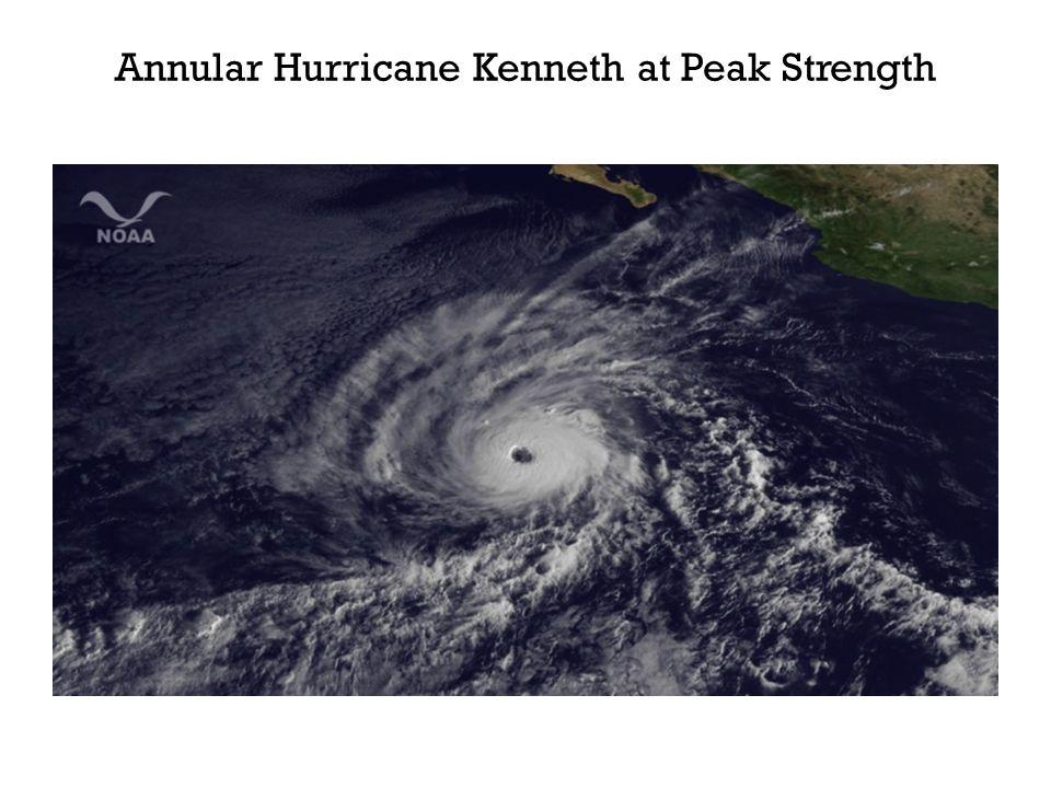 Annular Hurricane Kenneth at Peak Strength