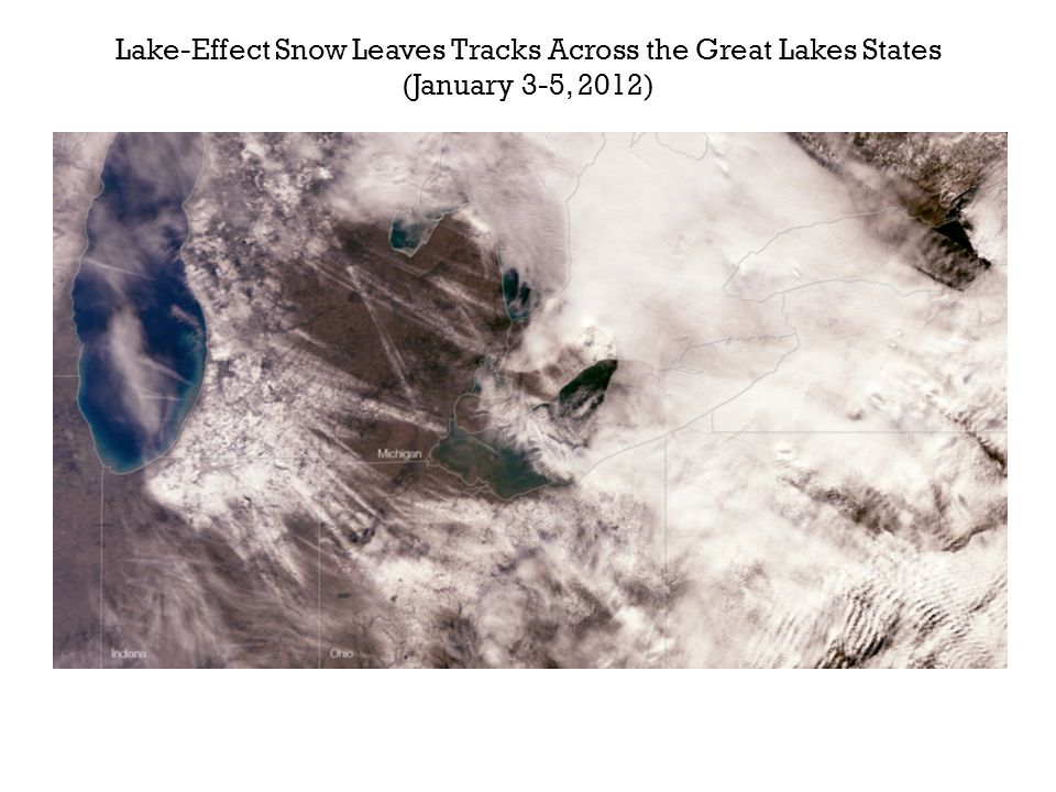 Lake-Effect Snow Leaves Tracks Across the Great Lakes States (January 3-5, 2012)