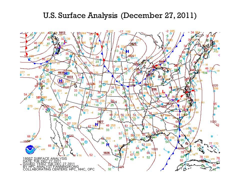 U.S. Surface Analysis (December 27, 2011)