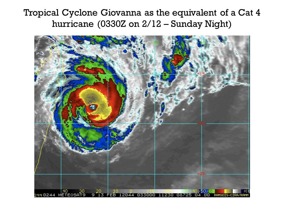 Microwave satellite imagery reveals TC Giovanna undergoing an eyewall replacement cycle (Monday Morning)