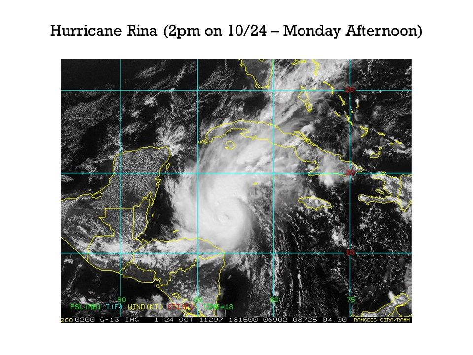 Hurricane Rina (2pm on 10/24 – Monday Afternoon)
