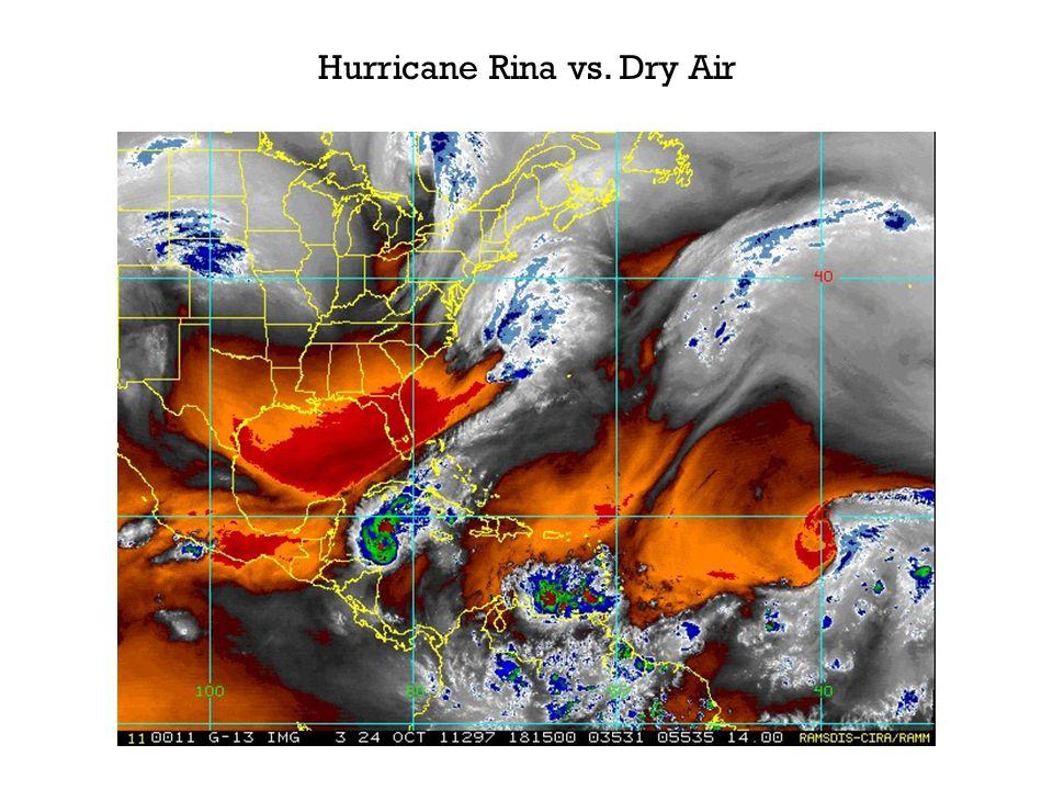 Hurricane Rina vs. Dry Air
