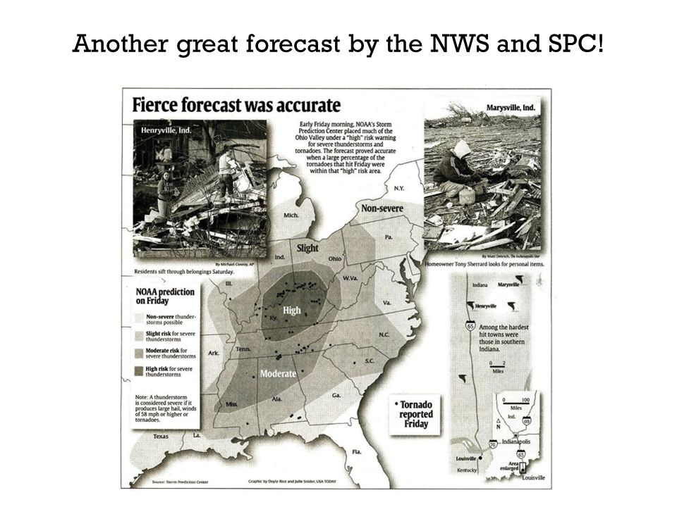 Another great forecast by the NWS and SPC!
