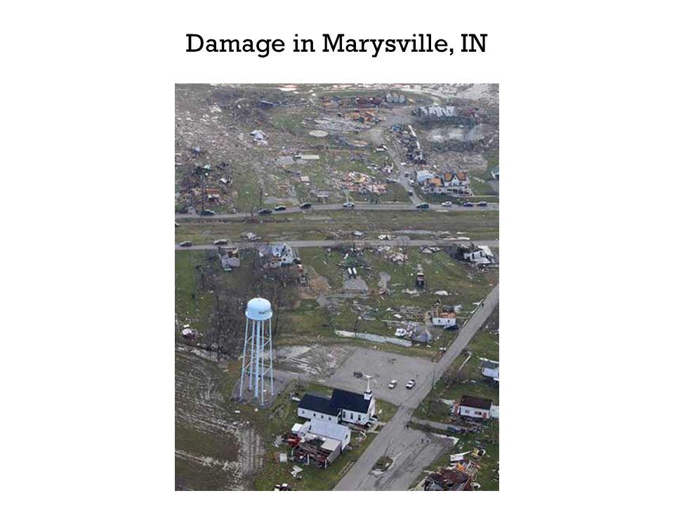 Damage in Marysville, IN