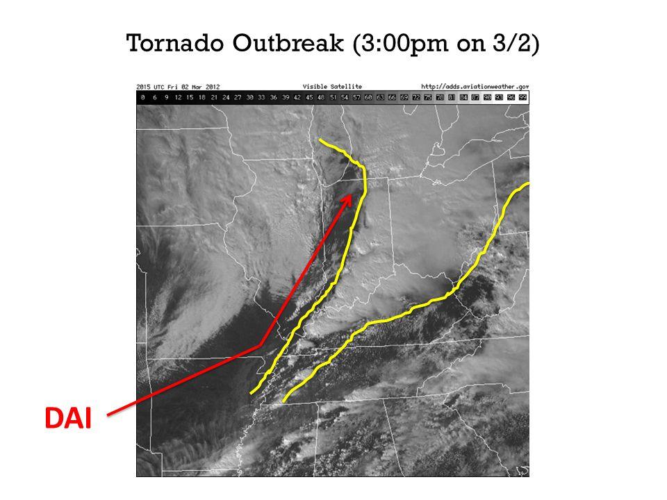 Tornado Outbreak (3:00pm on 3/2) DAI