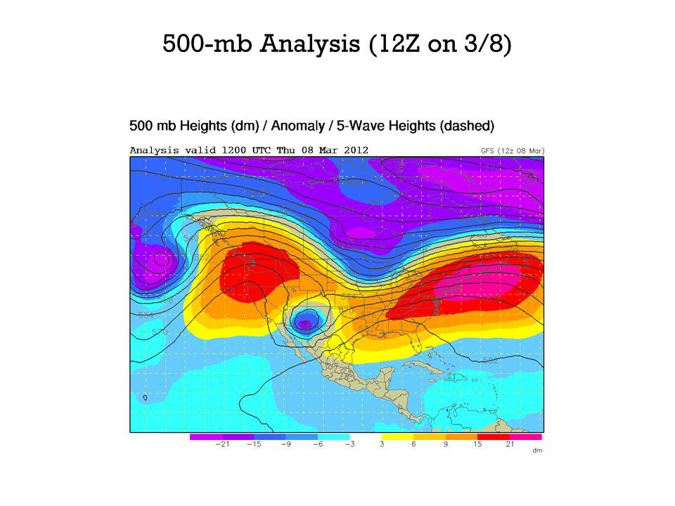 500-mb Analysis (12Z on 3/8)