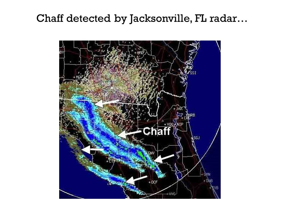 Chaff detected by Jacksonville, FL radar…