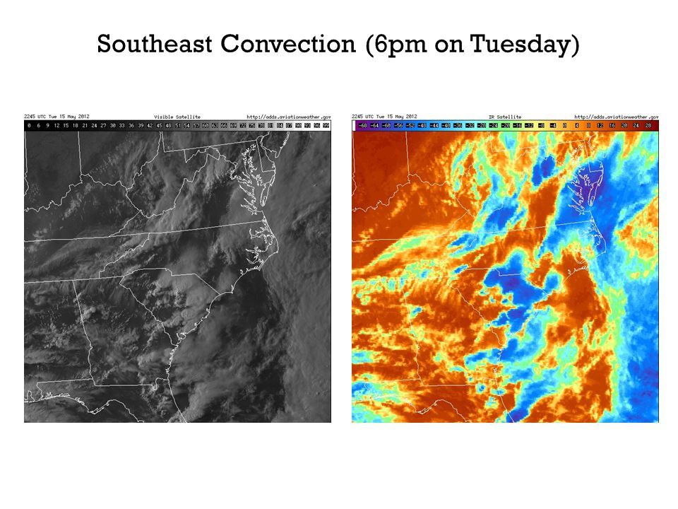 Southeast Convection (6pm on Tuesday)