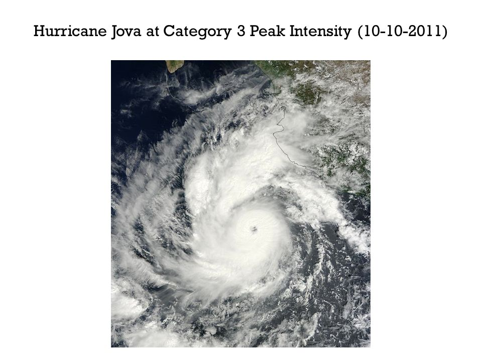 Hurricane Jova at Category 3 Peak Intensity ( )