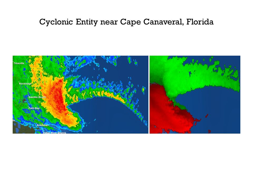 Cyclonic Entity near Cape Canaveral, Florida