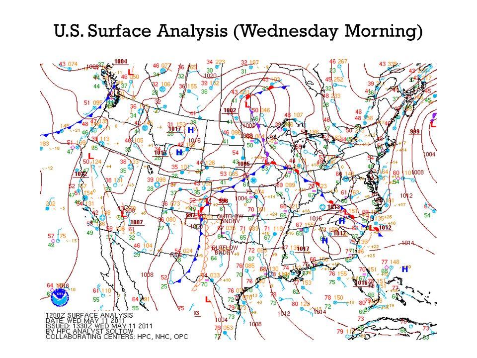 U.S. Surface Analysis (Wednesday Morning)