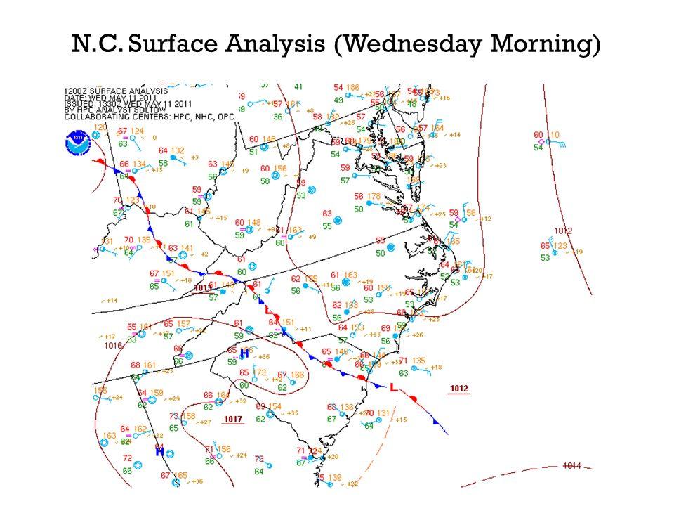 N.C. Surface Analysis (Wednesday Morning)