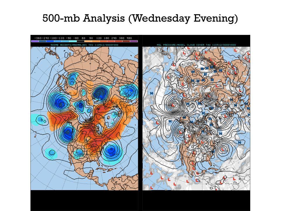 500-mb Analysis (Wednesday Evening)