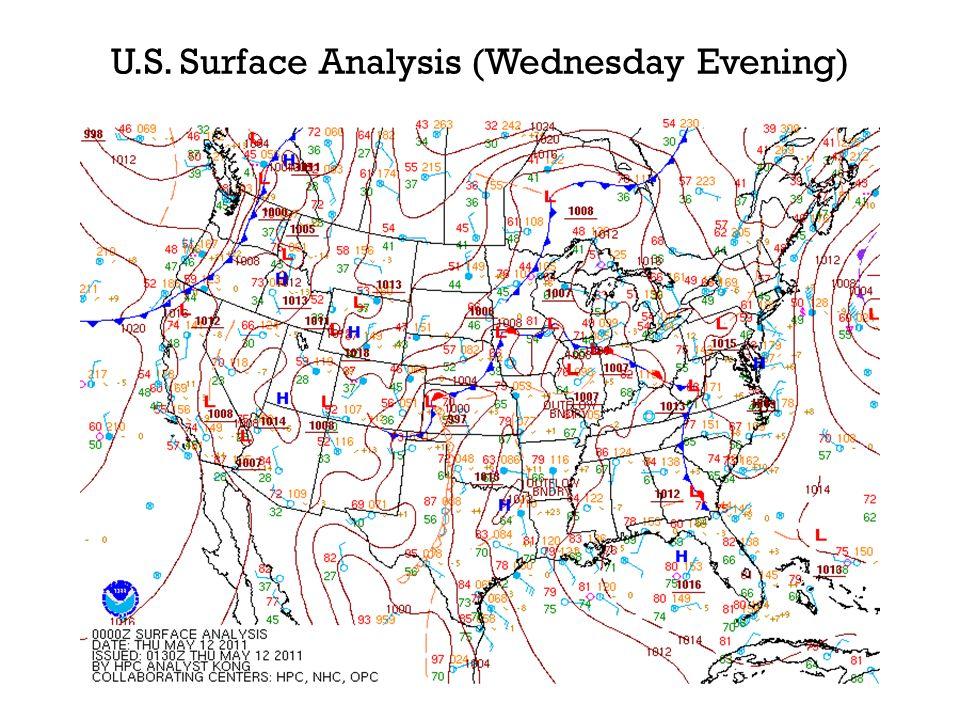 U.S. Surface Analysis (Wednesday Evening)