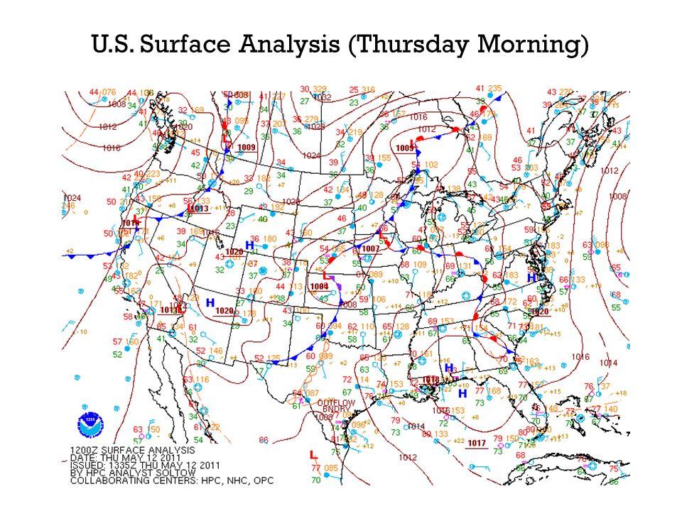 U.S. Surface Analysis (Thursday Morning)
