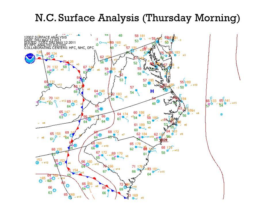 N.C. Surface Analysis (Thursday Morning)