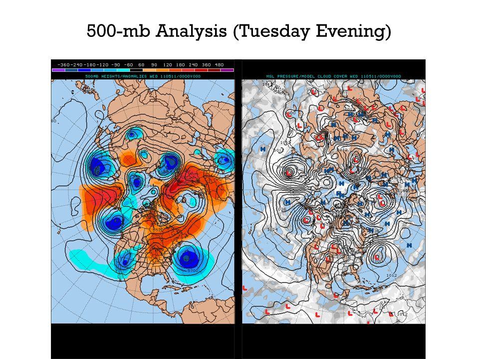 500-mb Analysis (Tuesday Evening)