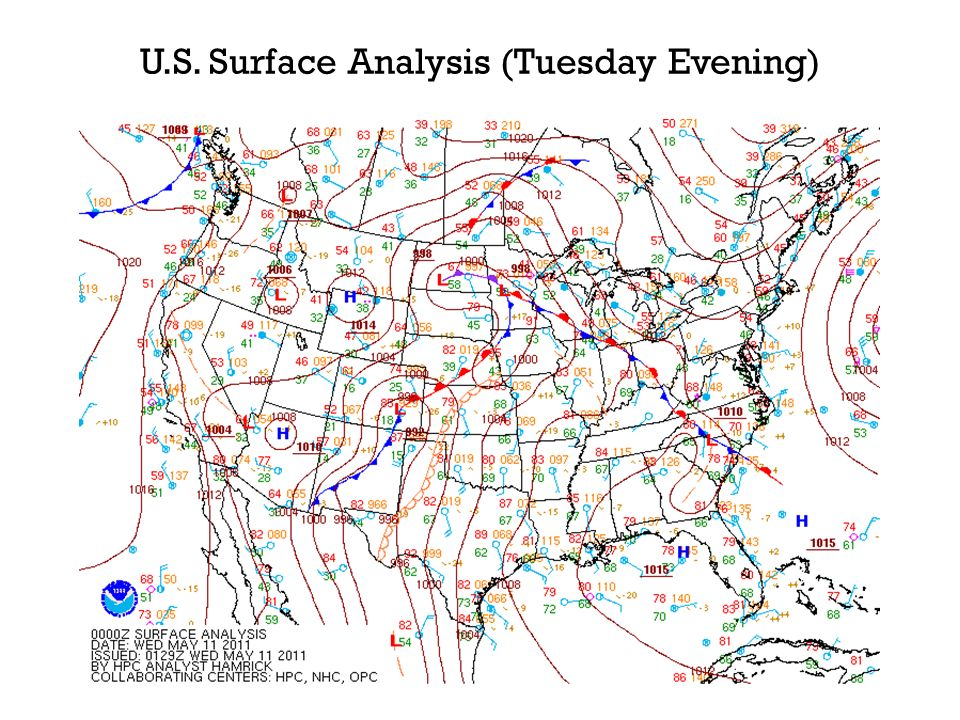 N.C. Surface Analysis (Tuesday Evening)