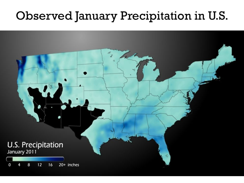 Observed January Precipitation in U.S.