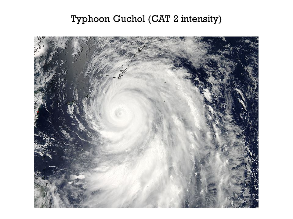 Typhoon Guchol (CAT 2 intensity)