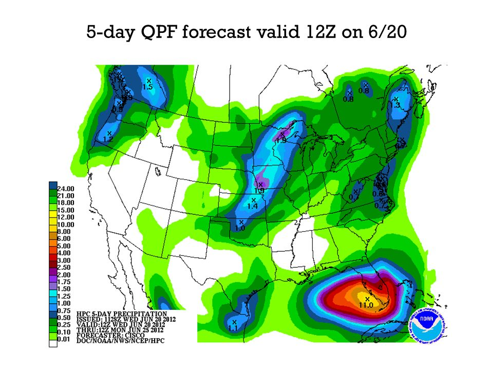 5-day QPF forecast valid 12Z on 6/20