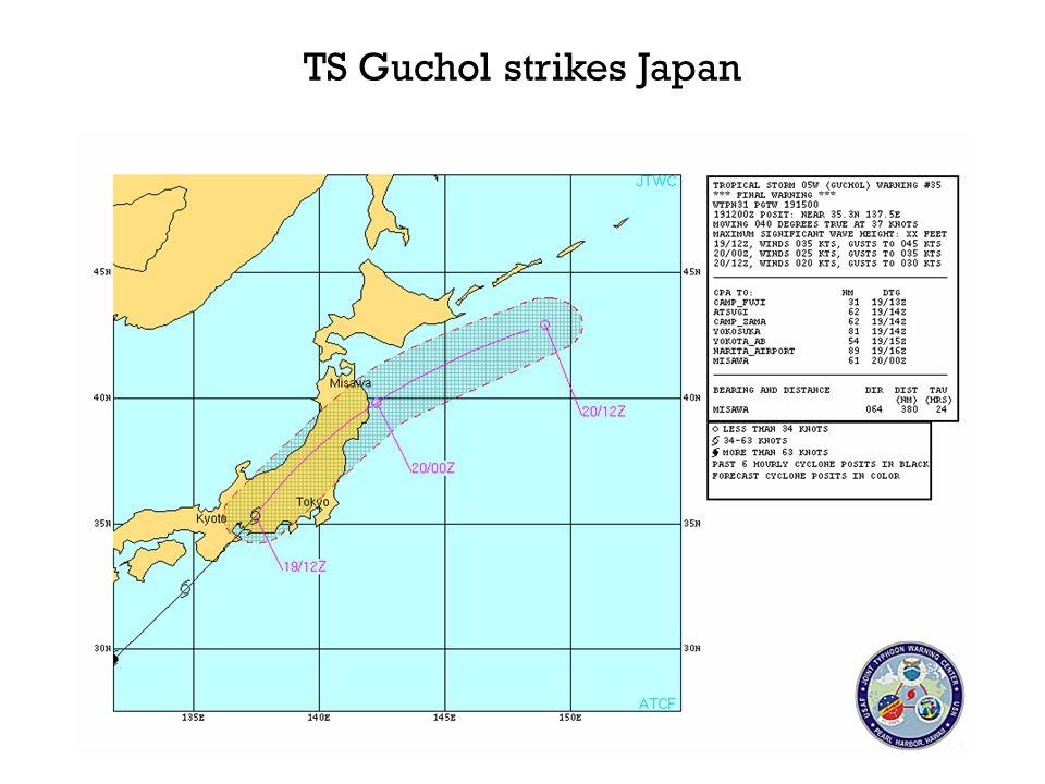 TS Guchol strikes Japan