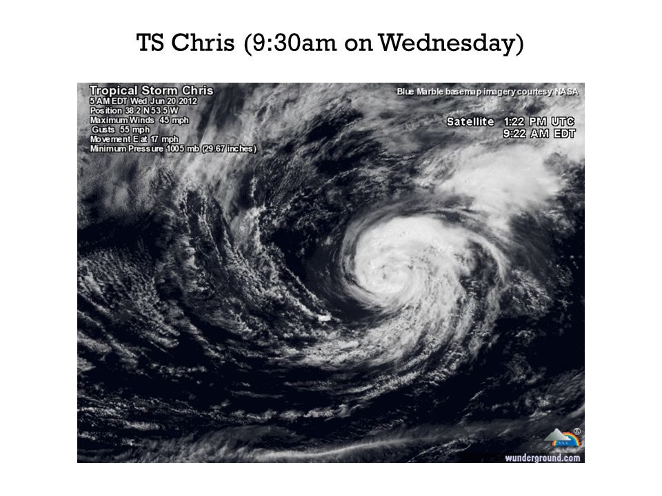TS Chris (9:30am on Wednesday)