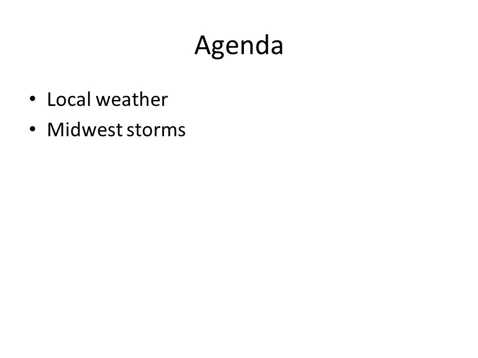 Agenda Local weather Midwest storms