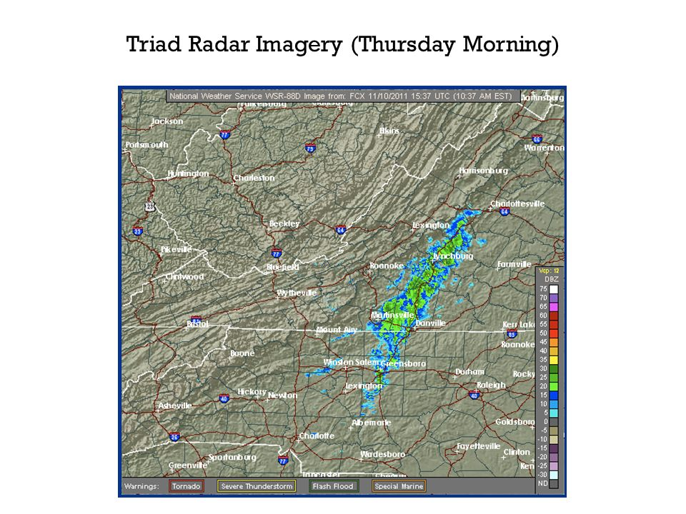 Triad Radar Imagery (Thursday Morning)