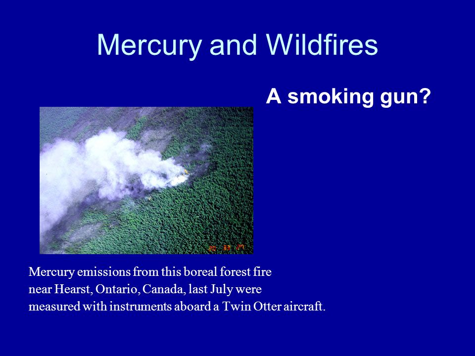 Mercury and Wildfires A smoking gun.