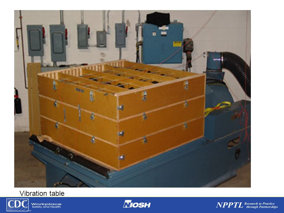 NPPTL Year Month Day Initials BRANCH Vibration table