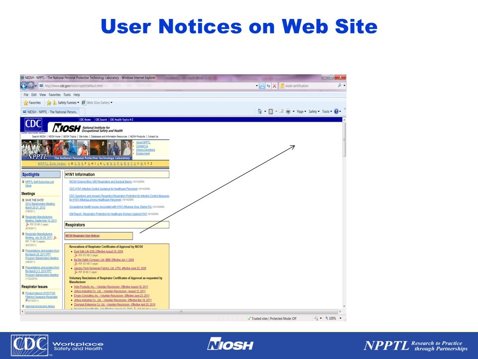 NPPTL Year Month Day Initials BRANCH User Notices on Web Site