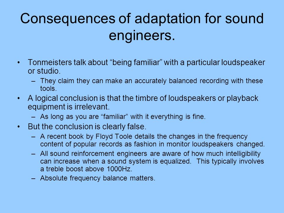 The dip at 3kHz for all subjects All subjects show a dip in the loudspeaker equal loudness curve at 3kHz.