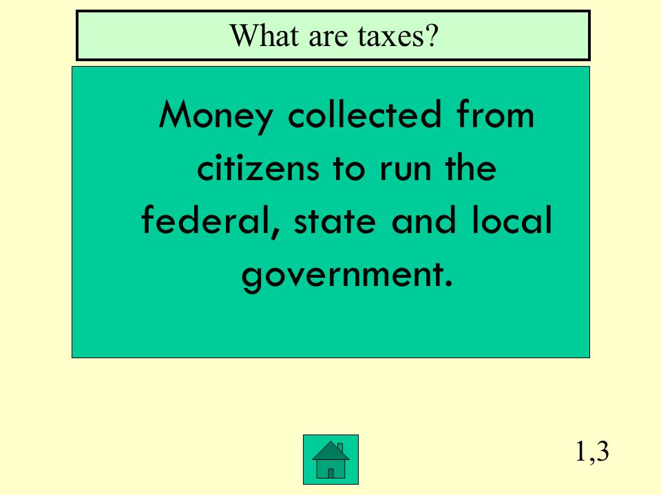 1,2 What is Federal The word that describes the central or national government.