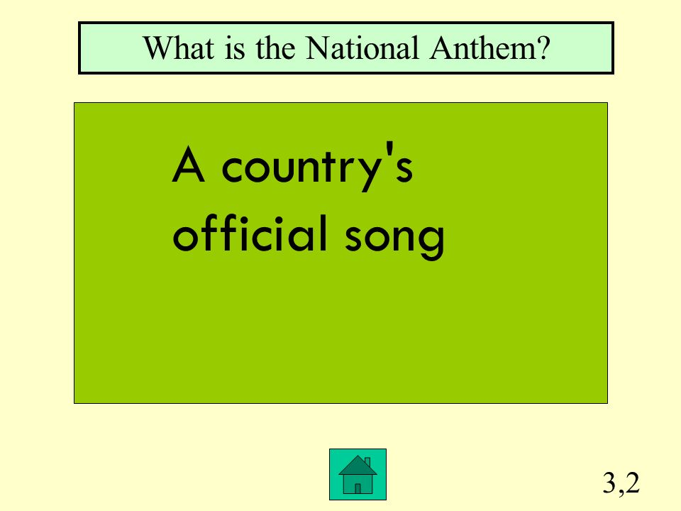 3,2 What is the National Anthem? A country s official song