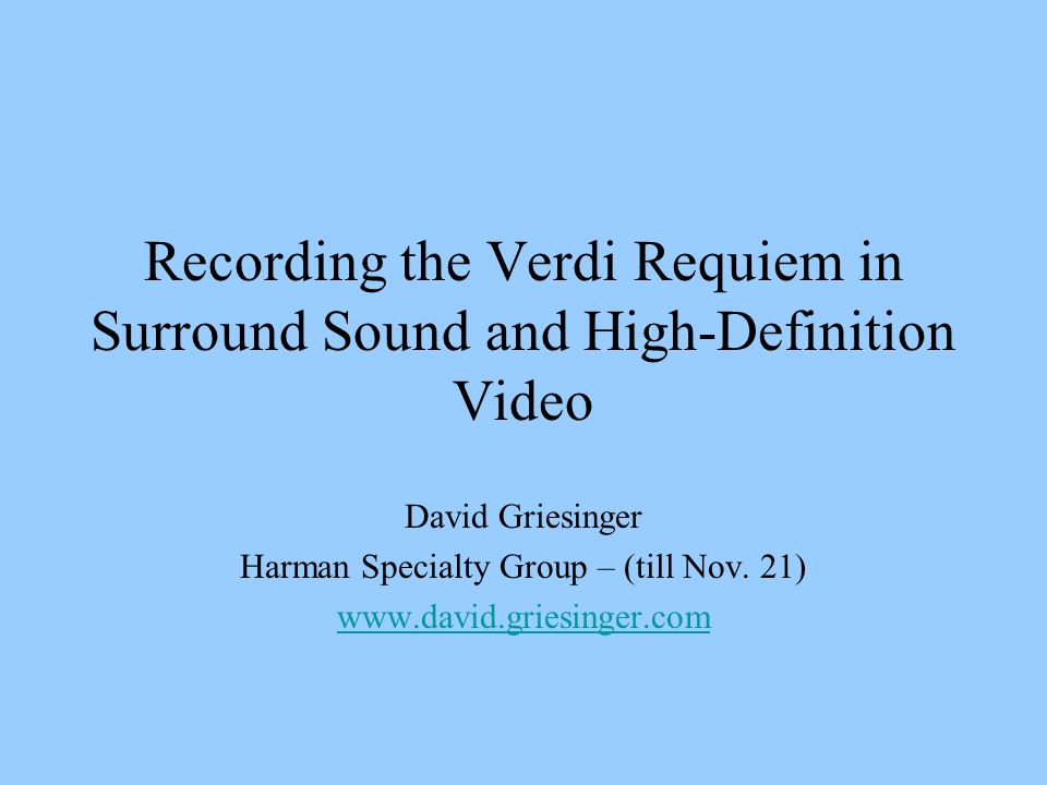 Direct Sound Good directional localization over a large listening area requires good separation between channels.