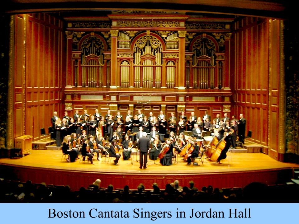 Boston Cantata Singers in Jordan Hall