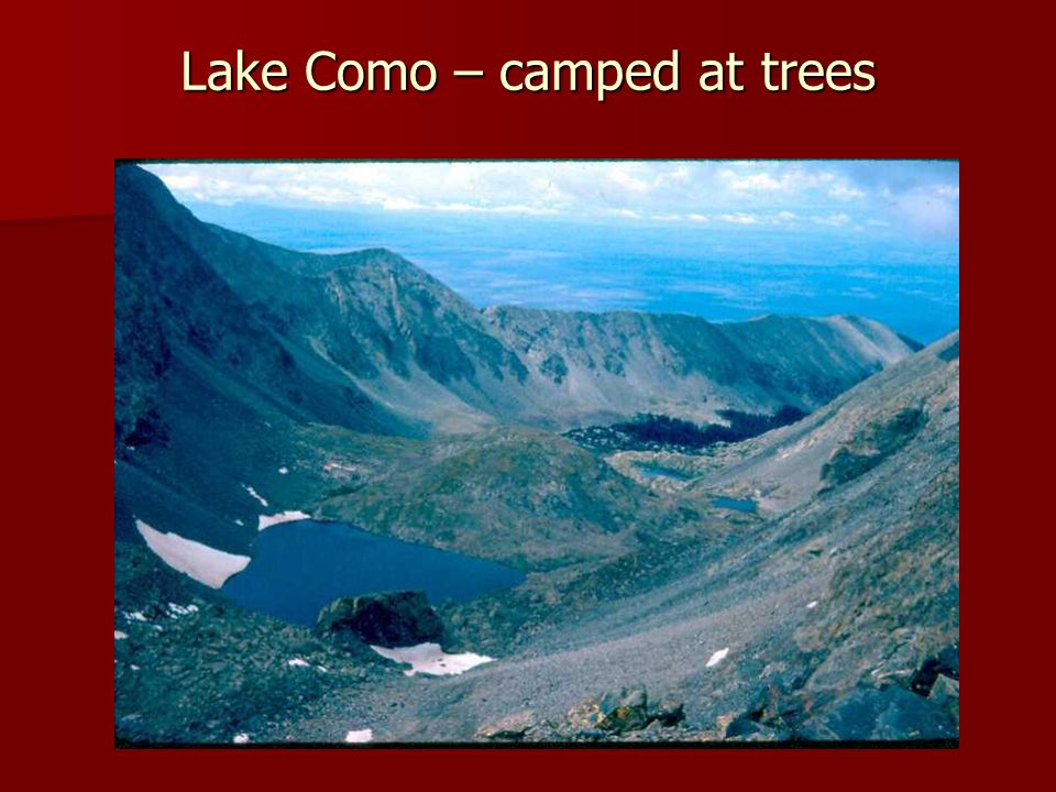 Lake Como – camped at trees