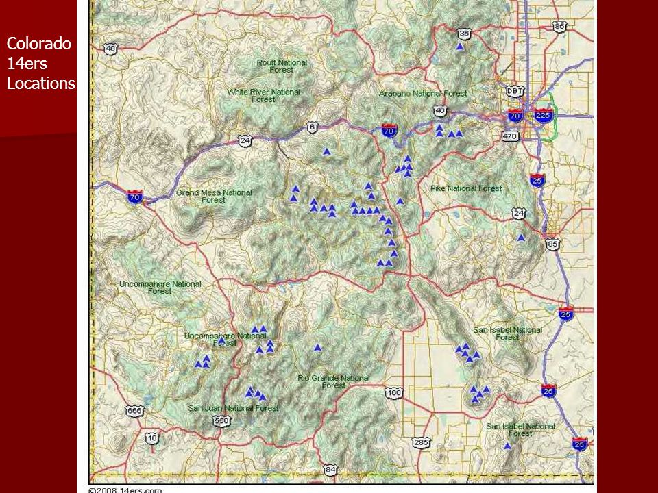 Colorado 14ers Locations