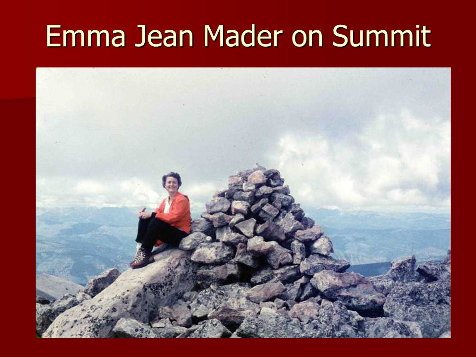 Emma Jean Mader on Summit