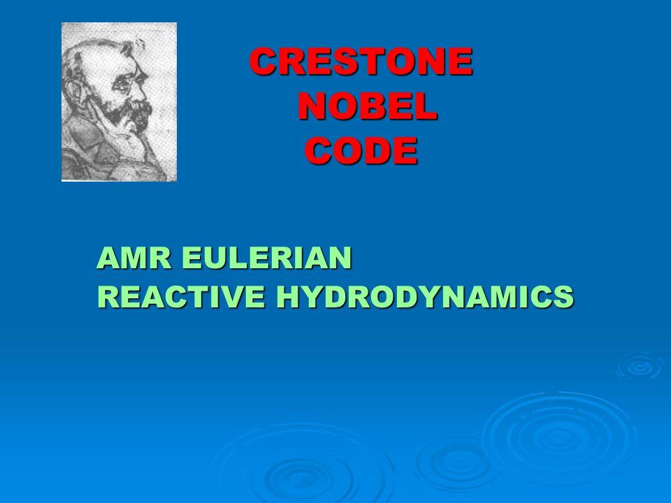 CRESTONE NOBEL CODE AMR EULERIAN REACTIVE HYDRODYNAMICS
