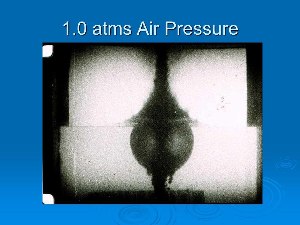 1.0 atms Air Pressure