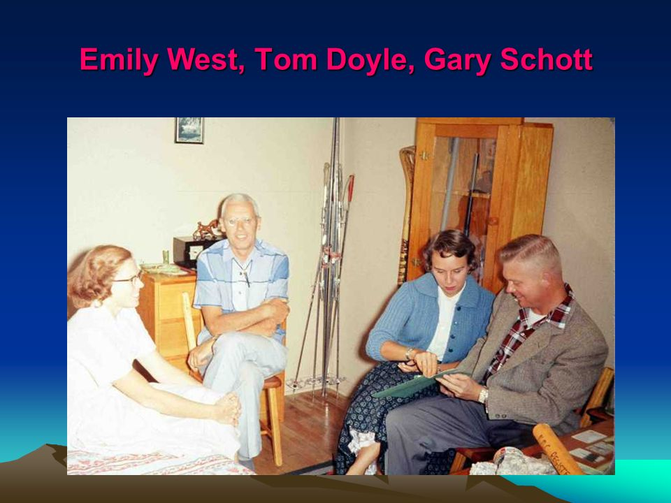 Emily West, Tom Doyle, Gary Schott