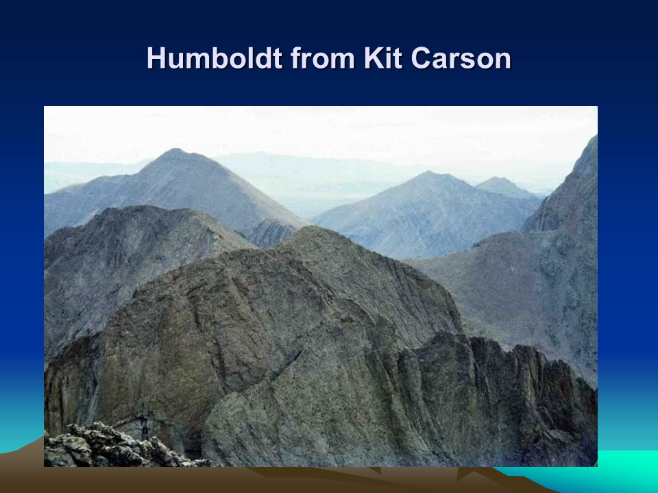 Humboldt from Kit Carson